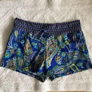 ATHLETA Swim Shorts , paisley print, Medium, Blue